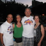 With Olympic gold medalist Derek Parra, CHF founder & president Dave Philips & team member Donna Zucchi at last years run.